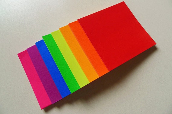 Bright Colors Rainbow Origami Square Paper Pack For Origami Etsy
