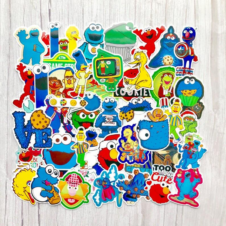 50 Pcs Sesame Street Sticker Pack Anime Stickers Laptop Suitcase Stickers  Skateboard Stickers Decoration Stickers