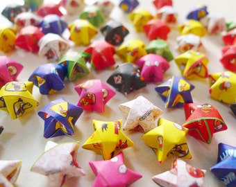 Cartoon Origami Lucky Stars - Birds Wishing Stars/Home Decor/Gift Fillers/Baby Shower