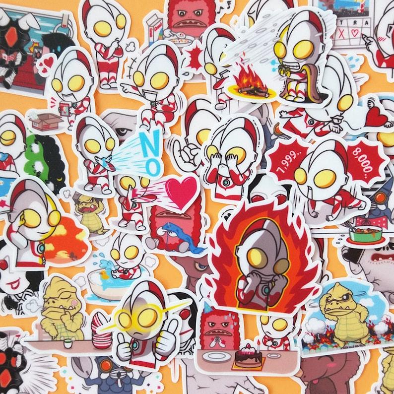 40 Pcs Ultraman Sticker PackAnime StickersDecorative StickersLaptop Suitcase DecoScrapbookingDiary Deco
