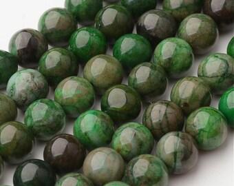 5 pearls hemimorphite calamine natural 8mm