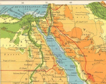 Middle east map | Etsy