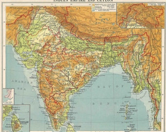 Items similar to Colonial Africa Political Map 1950 travel adventure ...
