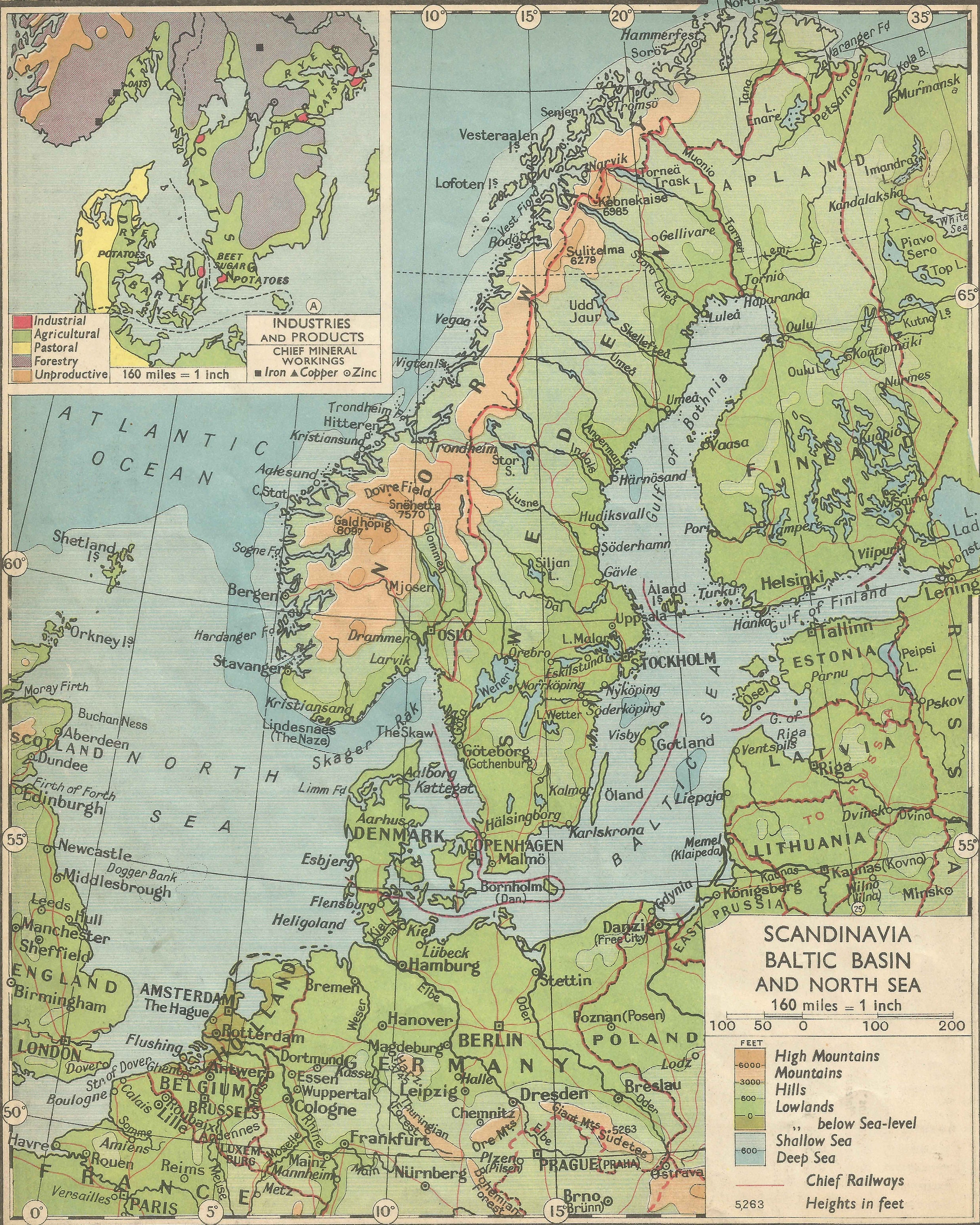 1940s Map Of Europe.Norway Sweden And Denmark Scandinavia Baltic 1940s Europe Old Etsy