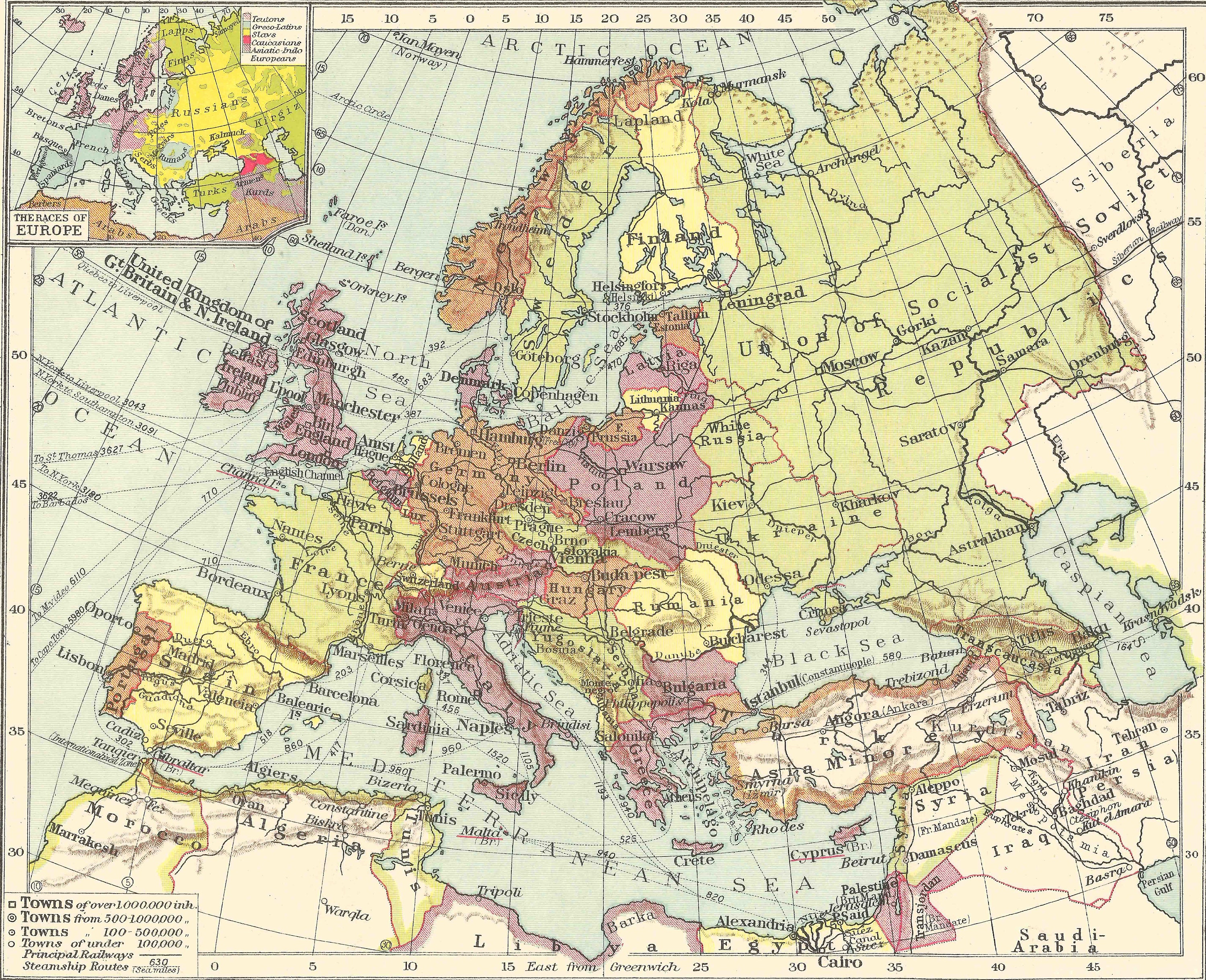 1920s Europe Map.Europe Political 1920s Maps Travel Adventure Maps For Home Etsy