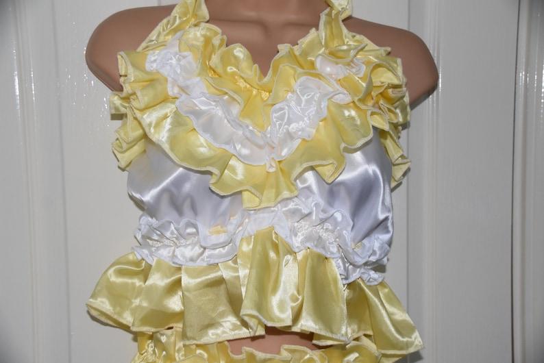 Sissy Lingerie  ANT suspenders bra SISSY double satin lingerie set panties camisole top sissy boi comfort lingerie