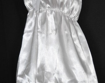 Virgin white pretty little sissy dress with matching satin bloomers, Sissy Lingerie