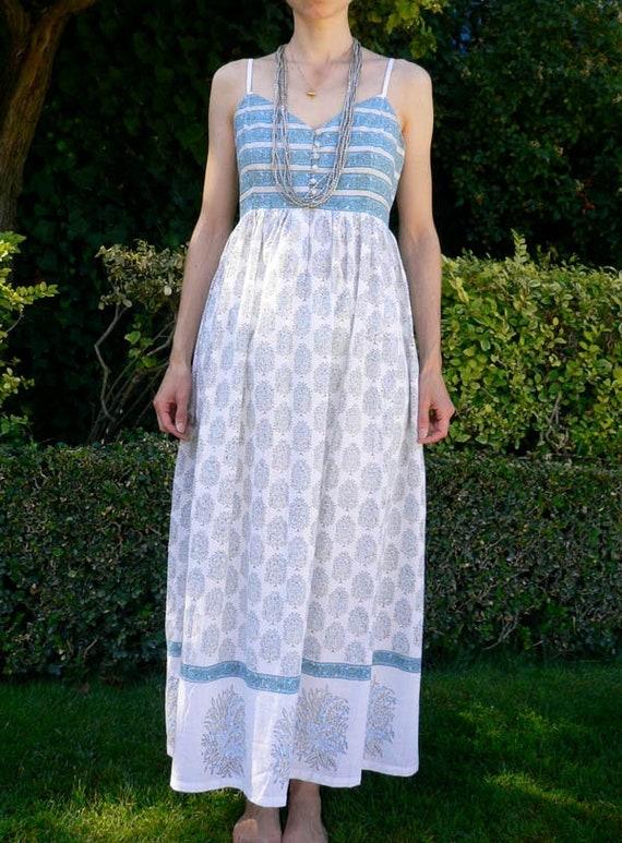Vintage nightie nigth dress sundress Anokhi block