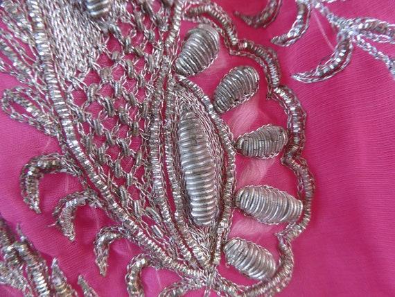 Vintage pink indian skirt lehenga hippie india em… - image 9