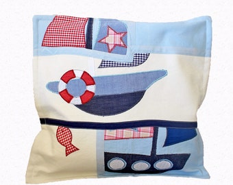Kids room Pillow cover Sailing decor nautical pillow kids room pillow Nautical baby shower Navy blue pillow cover Nautical cushion cover