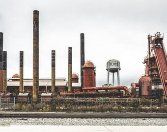 Sloss Furnaces, Rustic Photography, American History, Industrial Wall Art, Steampunk Wall Art, Birmingham Alabama, Abandoned Photography