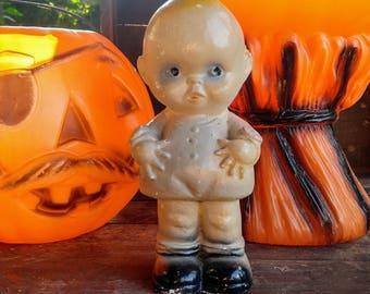 Vintage Chalkware Kewpie / Vintage Carnival Prize / Creepy Chalkware Kewpie / Halloween Decor
