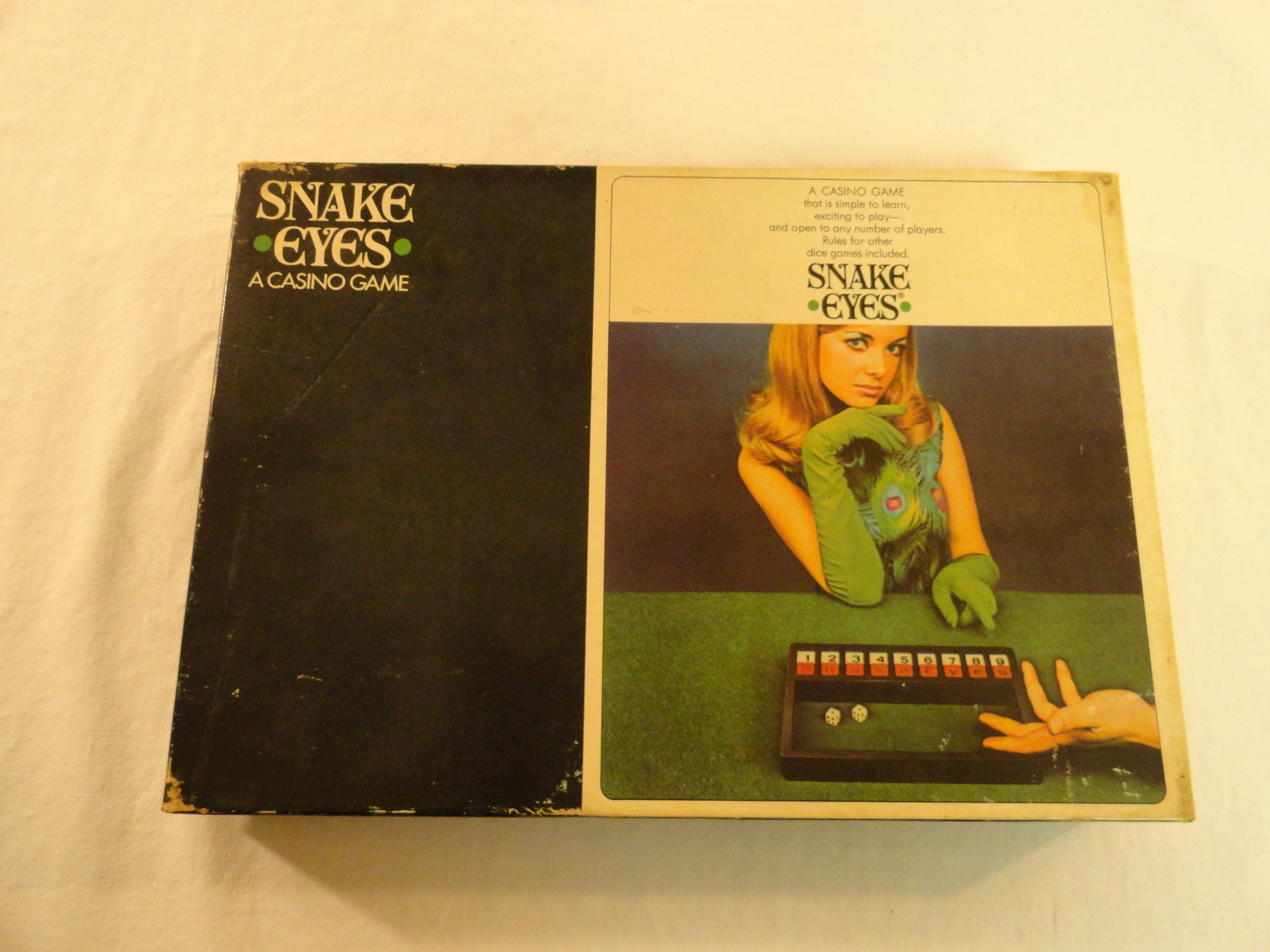 1968 Selchow And Righter Company Snake Eyes A Casino Game