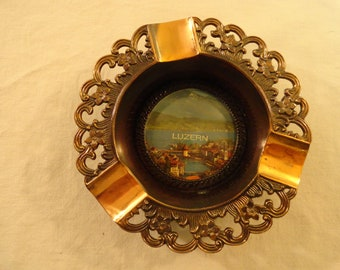 Nice Ashtray With A Picture Of Luzern