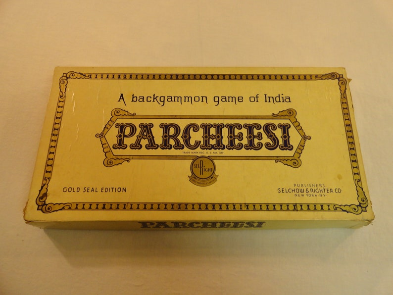 Selchow and Righter Company A Backgammon Game Of India Parcheesi Gold Seal  Edition Number 2