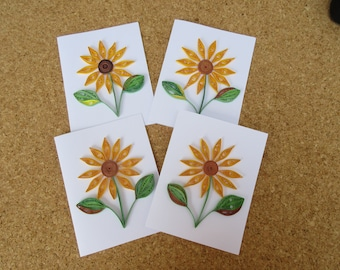 Quilled cards paper flowers pressed flowers by daintybritecards 46 quilled assorted cards free shipping unique note cards handmade greeting card set bulk ca mightylinksfo