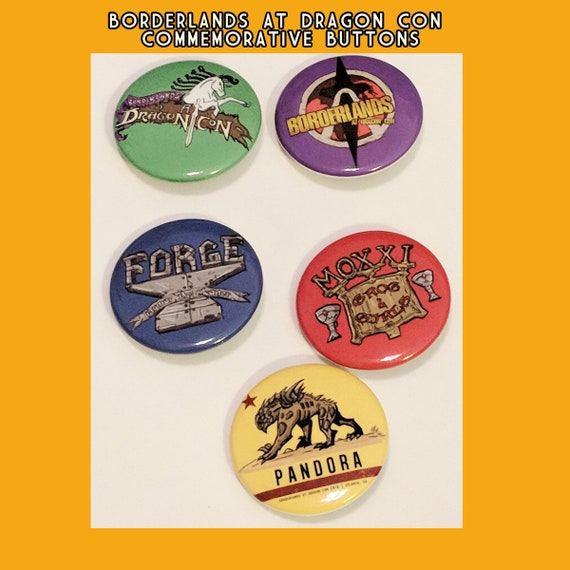 Borderland At Dragon Con Commemorative Buttons Lanyards