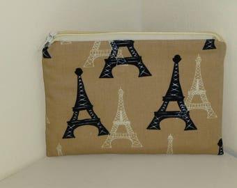Eiffel Tower Coin Purse, French Coin Purse, Paris Coin Purse, Eiffel Tower Makeup Bag, Paris Cosmetics Bag, Eiffel Tower Medicines Bag