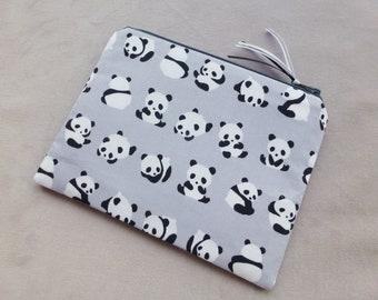 Panda Bear MakeUp Bag, Bear Coin Purse, Small Makeup Bag, Headphones Pouch
