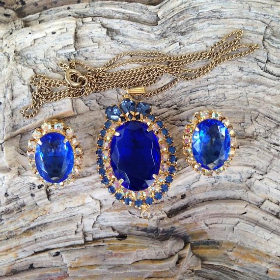Juliana D&E Princess Diana Sapphire Blue Rhineston