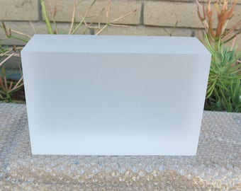 "3""  thick Acrylic platform/Base for sculptures/art, 3"" x 5"" x 7"""