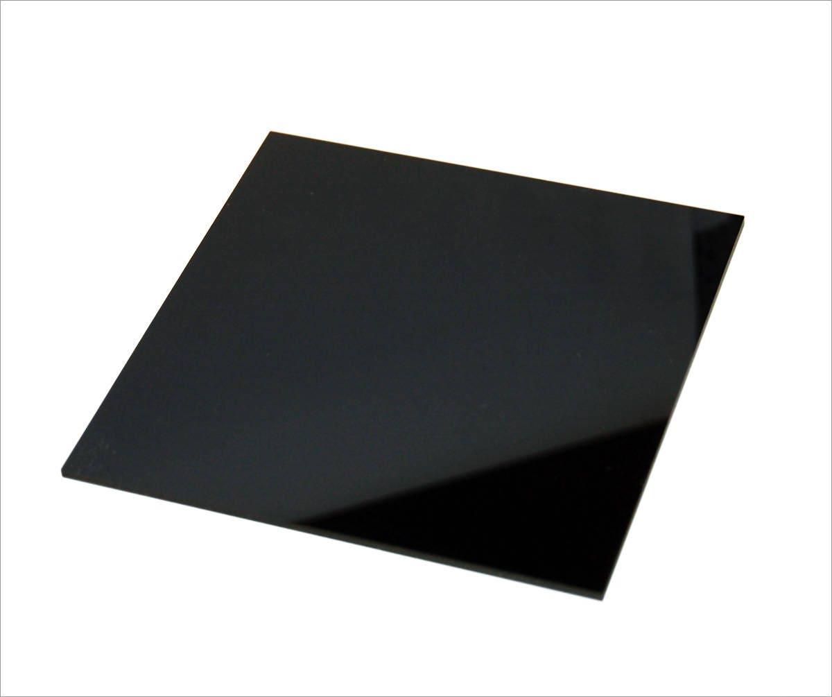 "Black Plexiglass Cast Acrylic Sheet 24/"" X 16/"" X 1//8/"""