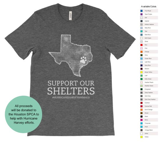 Support Our Shelters Hurricane Harvey Donation Etsy