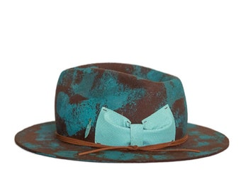 EUPHORIE - wool / rabbit felt fedora - bespoke hat