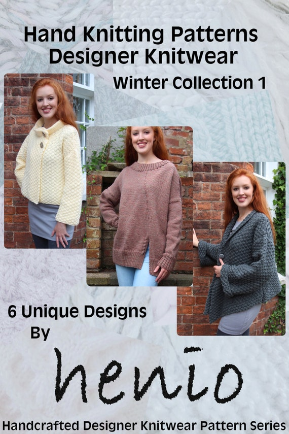 Hand Knitting Patterns Designer Knitwear Winter Collection Etsy