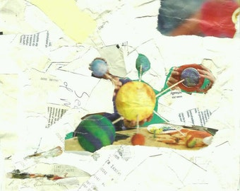 Collage (Reversible: Planets & Grapes)