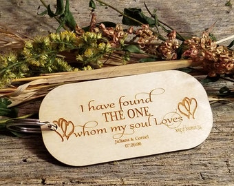 Christmas Gift, Personalized 5th  Anniversary Gift, I have Found The One Whom My Soul Loves, Song Of Solomon 3:4