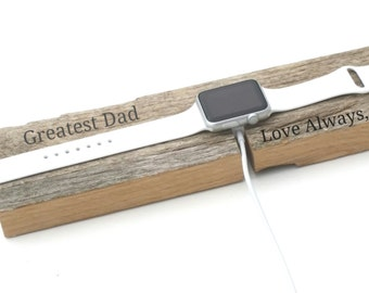 iWatch Docking Station, Charger Holder Personalized, Birthday, Father's Day, Christmas, GIFT WRAPPED