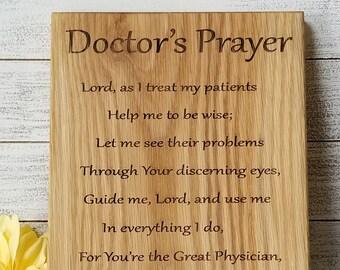 Custom Graduation Gift Doctor, Prayer For Doctors Plaque, Graduation Gift Doctor, Gift Wrapped