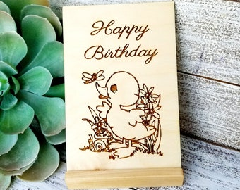 Birthday Custom Wooden Greeting Card, Gift Boxed, Quarantine Gift, Social Distancing, Across The Miles, Easter Gift