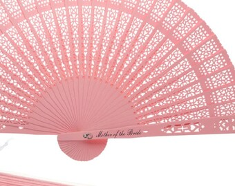 Personalized Wood Lace Hand Fans, Mother of the Bride, Summer Beach Outdoor Wedding, 6  Fans