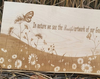 Engraved Wood Plaque, Wall Art, Christmas Gift, Home Decor, House Warming, GIFT WRAPPED