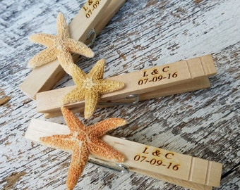 Engagement Party Decor, Beach Themed Name Place Holder, Starfish Decor, Personalized, Beach Wedding Decoration