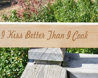 Fun Kitchen Decor, Custom Engraved Plaque, Rustic Gift, Gift Wrapped