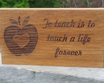 Custom Engraved Christmas Gift Teacher,  Wooden Plaque, Custom Engraved Birthday Gift