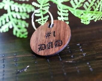 Custom Dad Keychain, Fathers Day Gift