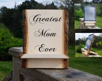 Custom Engraved iPad Holder, Recipe Card Holder, Gift  Mother In Laws, Gift Wrapped