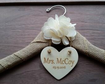 Custom Bride Name Hanger, Bridal Shower Gift