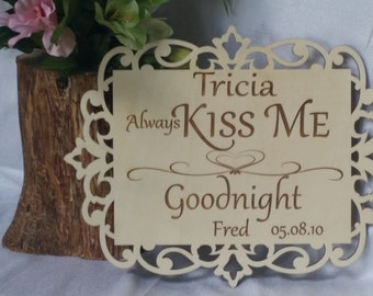 Personalized 5th Anniversary Gift, Master Bedroom Sign