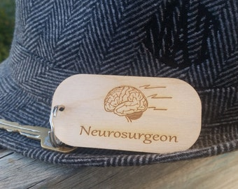 Neurosurgeon Personalized Key Chain, Gift For Doctor