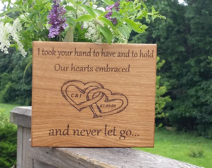 Featured listing image: 5th Anniversary Gift, Engraved Wood Plaque, Master Bedroom Decor, Wooden Sign