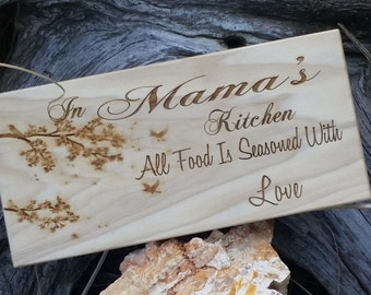 Engraved Wooden Sign, Gift Grandma From Granddaughter, Wall Art Home Decor, GIFT WRAPPED