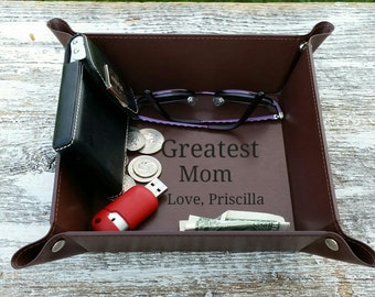 Valentine's Day, Personalized Gift For Mom, Coin, Watch, Glasses, Jewelry Dish, Catchalls For Her, Gift Wrapped