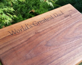 Father's Day Gift, Engraved Cutting Board, Gift For Chef, Birthday Gift Dad, GIFT Wrapped, RESERVED LISTNG