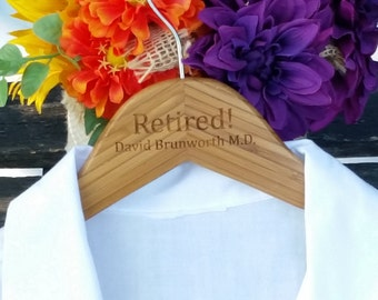 Retirement Gifts For Doctor, Last White Lab Coat, Personalized Hanger,