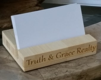 Christmas Gift Business Owner, Custom Engraved Business Card Holder, GIFT WRAPPED